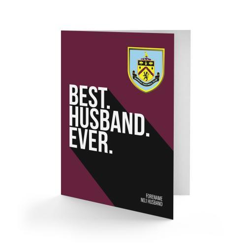 Burnley FC Best Husband Ever Card