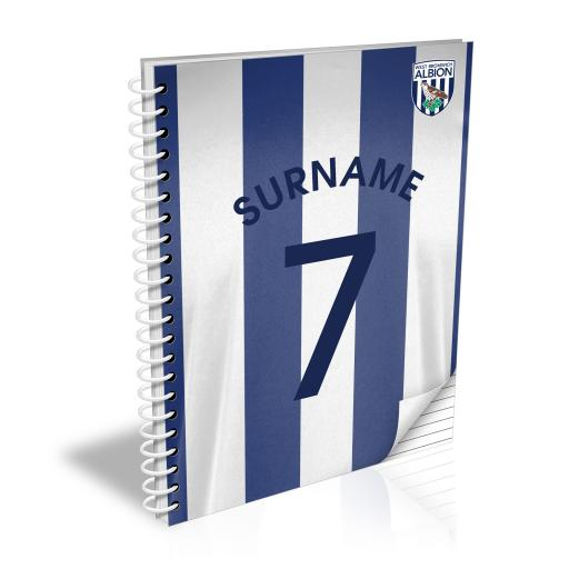 West Bromwich Albion FC Shirt Notebook