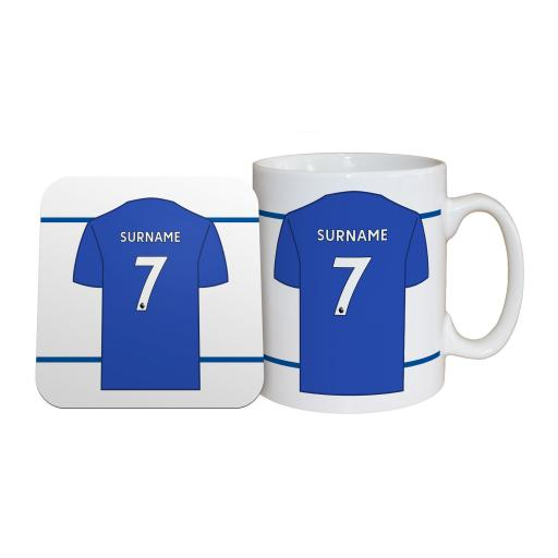 Leicester City FC Shirt Mug & Coaster Set