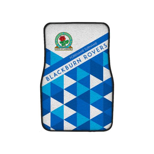 Personalised Blackburn Rovers FC Patterned Front Car Mat.