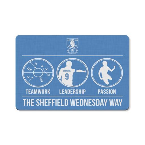 Personalised Sheffield Wednesday FC Way Floor Mat.