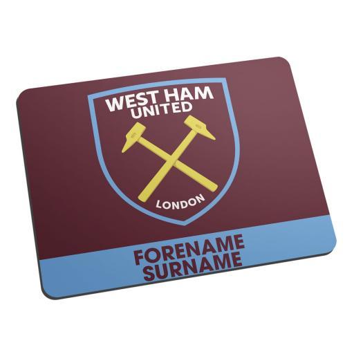 West Ham United FC Bold Crest Mouse Mat
