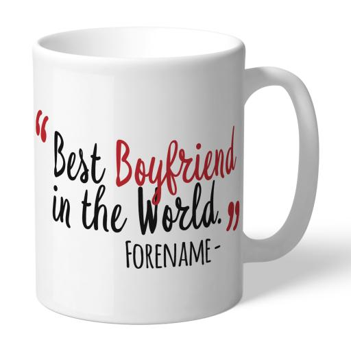 Personalised Middlesbrough Best Boyfriend In The World Mug.