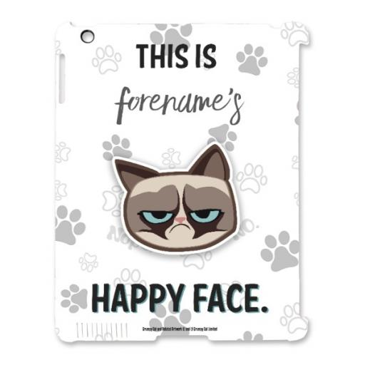 Grumpy Cat Emoji - Happy Face iPad Case Grey