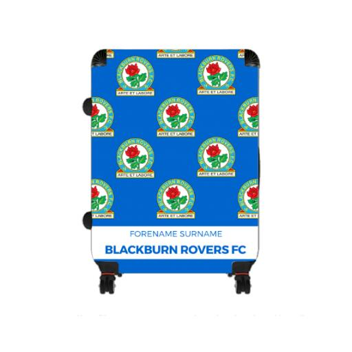 Personalised Blackburn Rovers Mini Crest Large Suitcase.