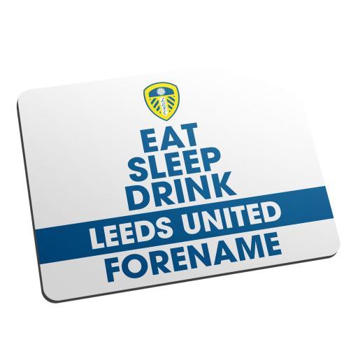 Leeds United FC Eat Sleep Drink Mouse Mat