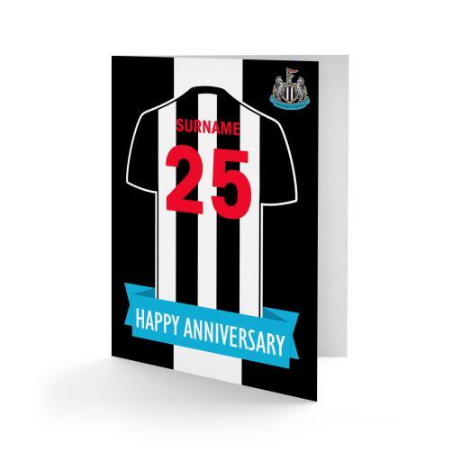 Newcastle United FC Shirt Anniversary Card