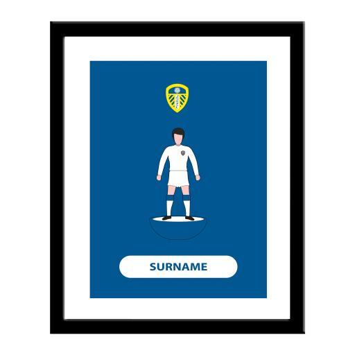 Personalised Leeds United FC Player Figure Print.