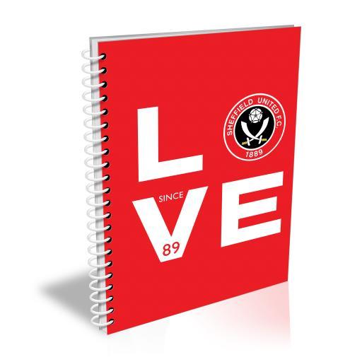 Sheffield United Love Notebook