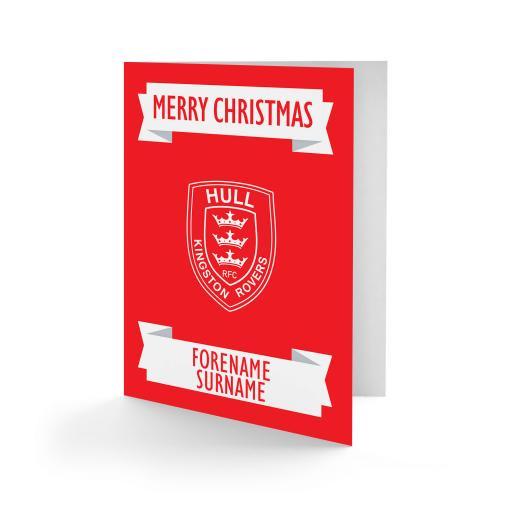 Hull Kingston Rovers Crest Christmas Card