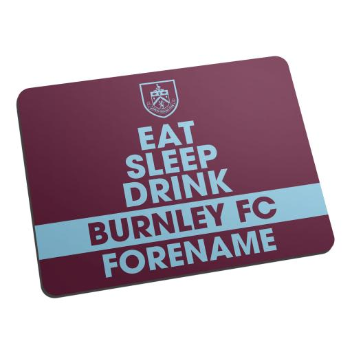 Burnley FC Eat Sleep Drink Mouse Mat