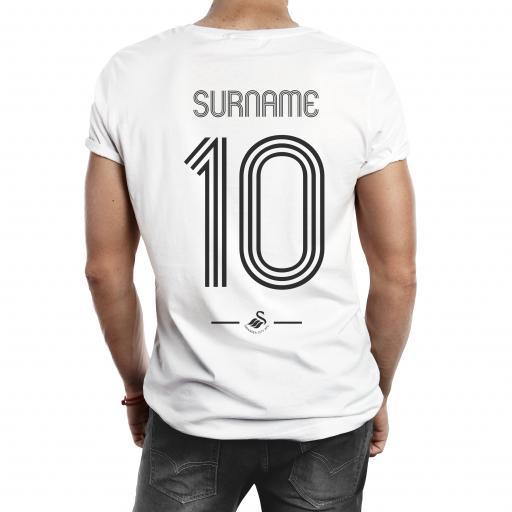 Swansea City AFC Retro Shirt Mens T-Shirt