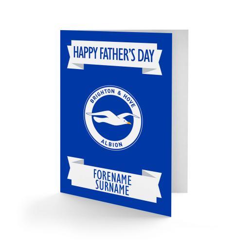 Brighton & Hove Albion FC Crest Father's Day Card