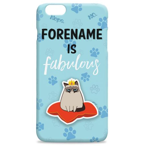 Grumpy Cat Emoji - Fabulous iPhone Case Blue