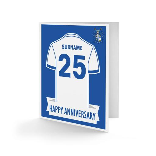 Bury FC Shirt Anniversary Card