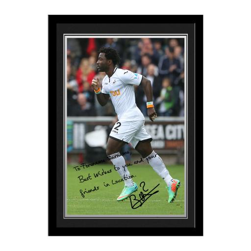 Swansea City AFC Bony Autograph Photo Framed