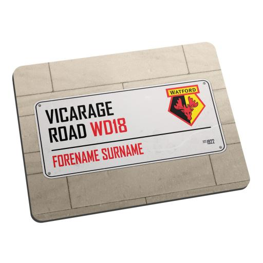 Watford FC Street Sign Mouse Mat