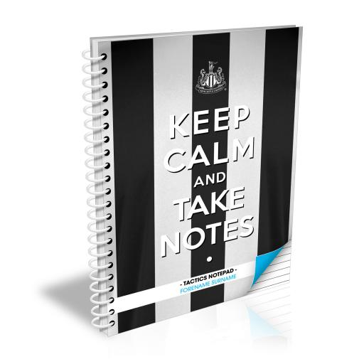 Newcastle United FC Keep Calm Notebook