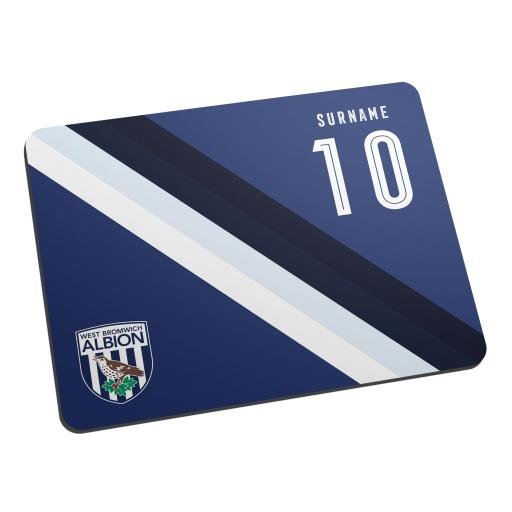 Personalised West Bromwich Albion FC Stripe Mouse Mat.