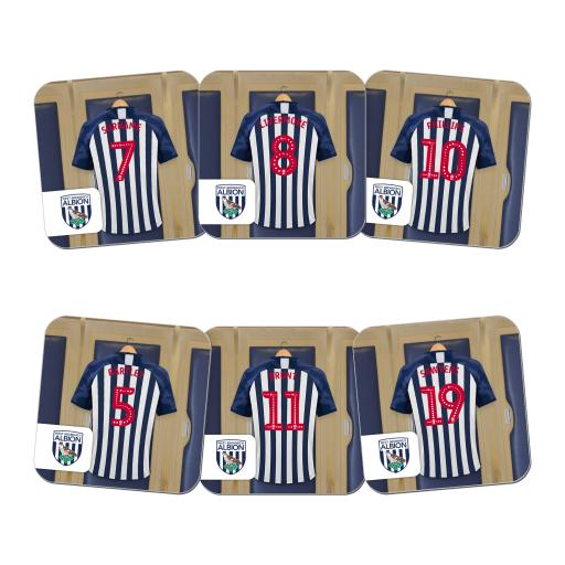Personalised West Bromwich Albion FC Dressing Room Coasters.