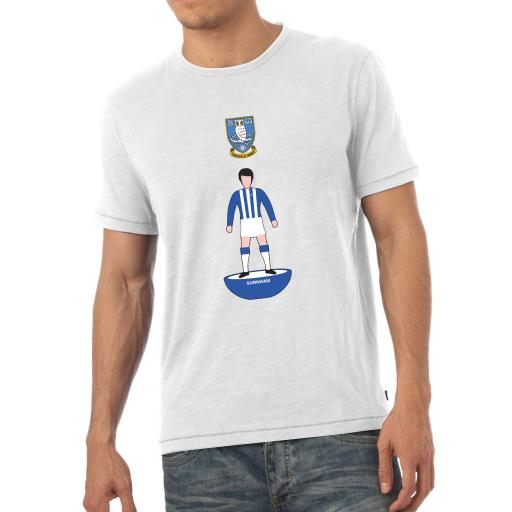 Personalised Sheffield Wednesday Player Figure Mens T-Shirt.