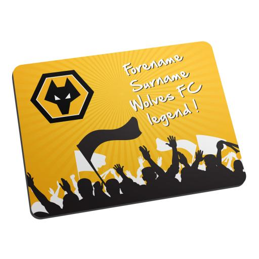 Personalised Wolves Legend Mouse Mat.