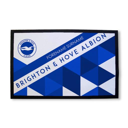 Brighton & Hove Albion FC Patterned Door Mat