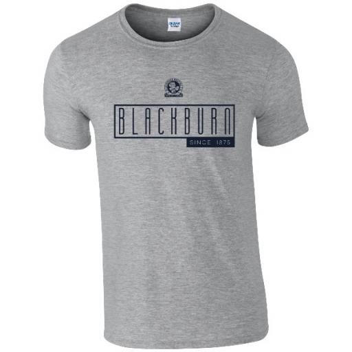Personalised Blackburn Rovers FC Art Deco T-Shirt.