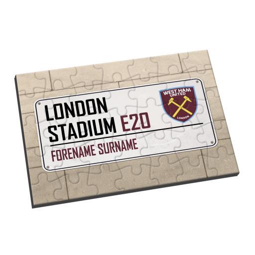 West Ham United FC Street Sign Jigsaw