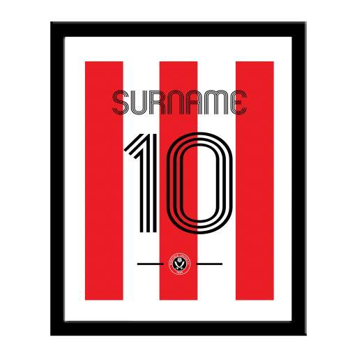 Sheffield United FC Retro Shirt Print