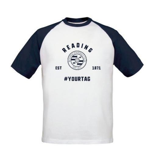 Reading FC Vintage Hashtag Baseball T-Shirt