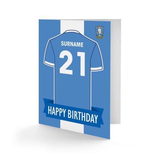 Sheffield Wednesday FC Shirt Birthday Card
