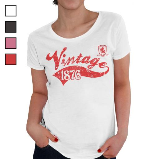 Middlesbrough FC Ladies Vintage T-Shirt