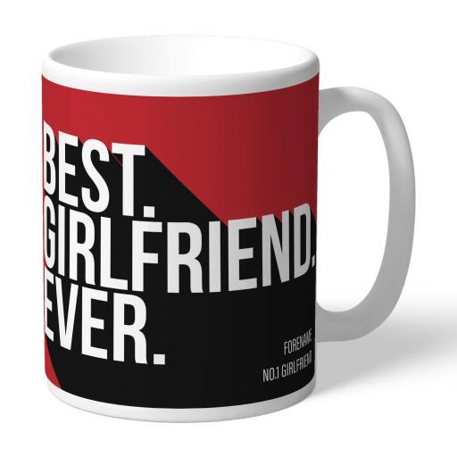 Personalised Middlesbrough Best Girlfriend Ever Mug.