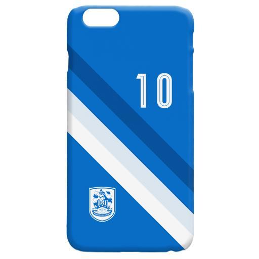 Personalised Huddersfield Town Stripe Phone Case.