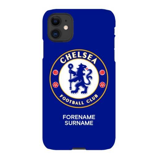 Chelsea FC Bold Crest iPhone 11 Phone Case