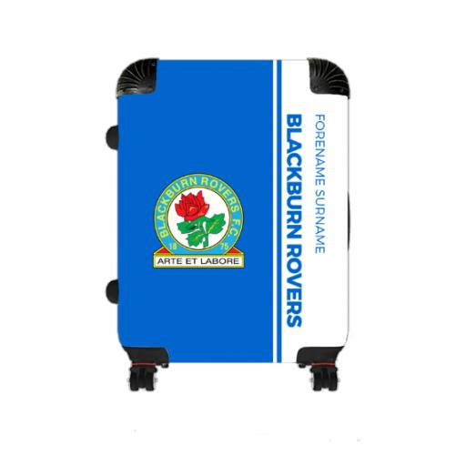 Personalised Blackburn Rovers Crest Medium Suitcase.