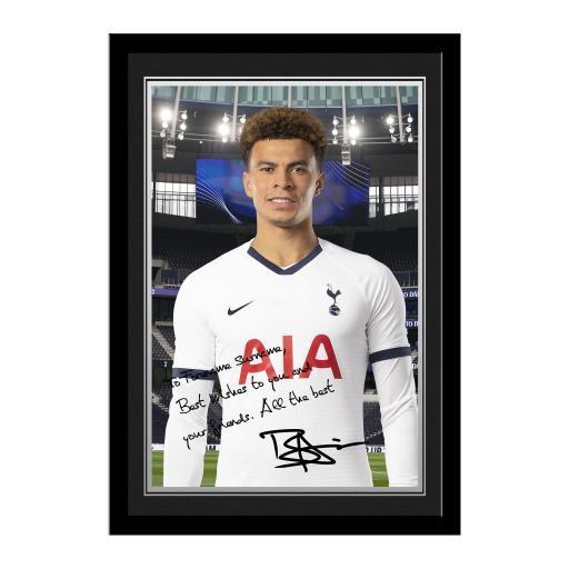 Tottenham Hotspur Alli Autograph Photo Framed