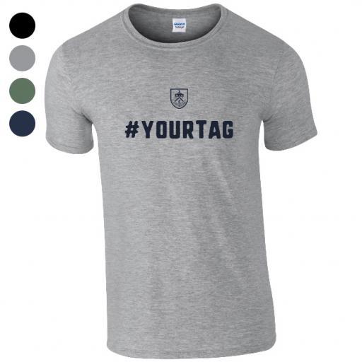 Burnley FC Crest Hashtag T-Shirt