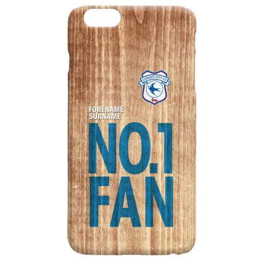 Cardiff City FC No 1 Fan Hard Back Phone Case