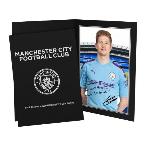 Manchester City FC De Bruyne Autograph Photo Folder