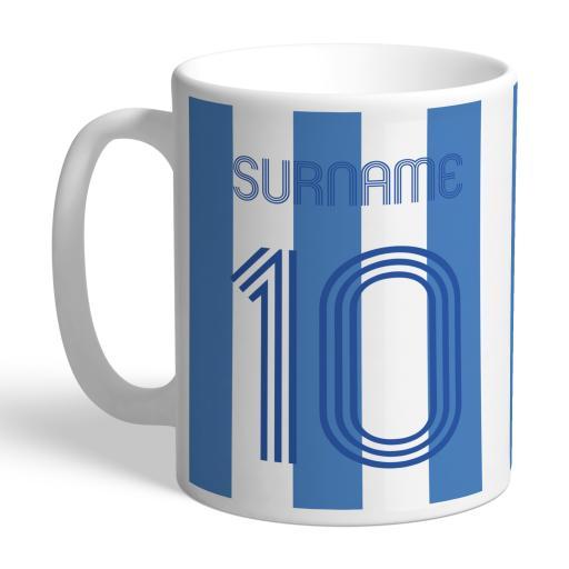Personalised Sheffield Wednesday Retro Shirt Mug.