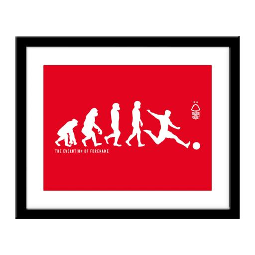 Nottingham Forest FC Evolution Print