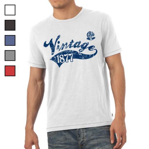 Bolton Wanderers FC Mens Vintage T-Shirt