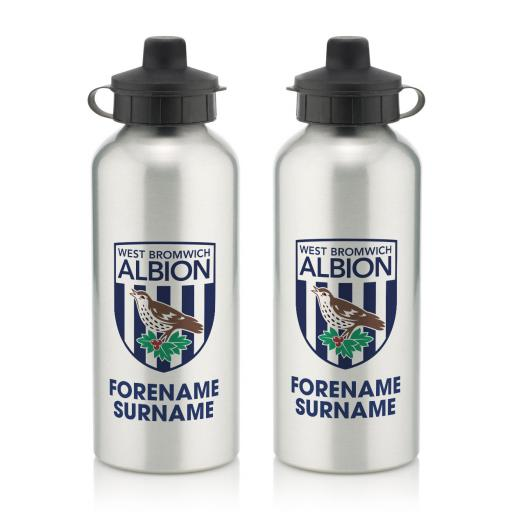 West Bromwich Albion FC Bold Crest Water Bottle