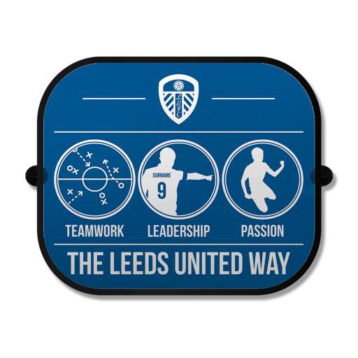 Leeds United FC Way Car Sunshade