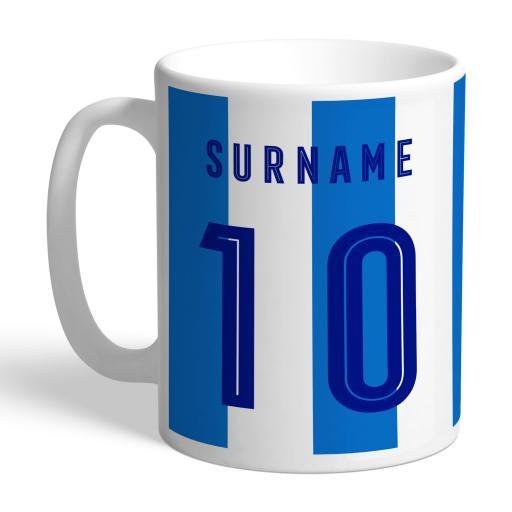 Personalised Huddersfield Town Retro Shirt Mug.