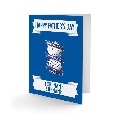 Birmingham City FC Crest Father's Day Card