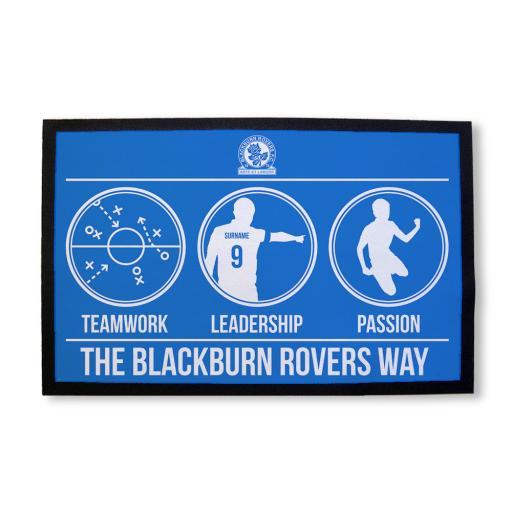 Personalised Blackburn Rovers FC Way Door Mat.
