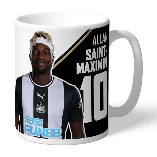 Personalised Newcastle United FC Saint-Maximin Autograph Mug.